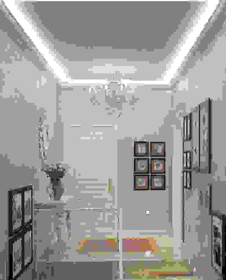 Холл третьего этажав загородном доме в подмосковье Коридор, прихожая и лестница в классическом стиле от Гурьянова Наталья Классический