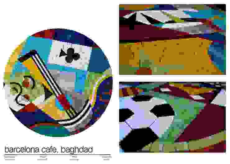 BARCELONA CAFE, BAGHDAD de Martin Brown Mosaics Ecléctico
