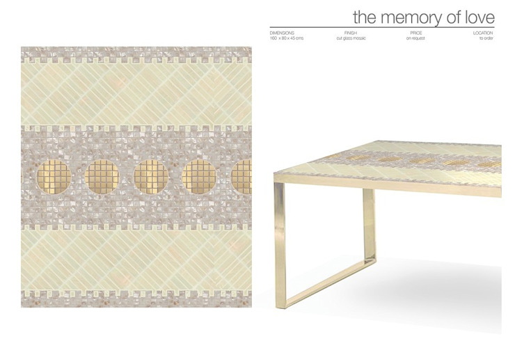 The Edge of Reason Collection de Martin Brown Mosaics Moderno