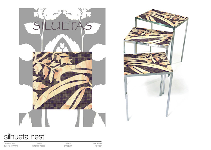 NEST AND SIDE TABLES de Martin Brown Mosaics Moderno