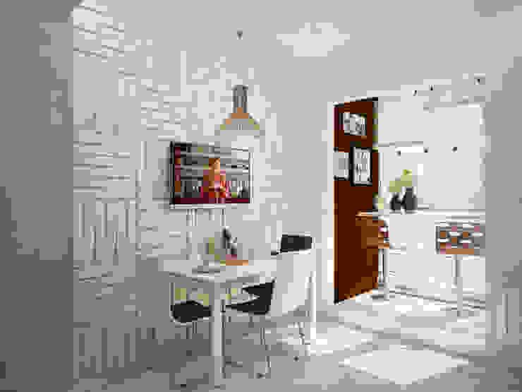 Кухня в московской квартире Кухня в стиле модерн от Гурьянова Наталья Модерн
