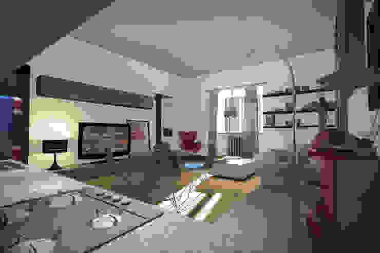 Salones eclécticos de Marco D'Andrea Architettura Interior Design Ecléctico