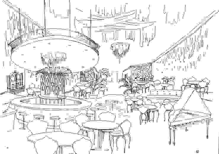 Idea para un ristorante de lujo en el Golden Mile, Marbella de Alia B Designs Ecléctico