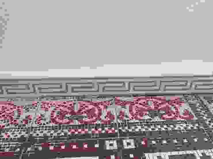 Treppenhaus Fliesenboden restauriert ,ergänzt und aufgearbeitet Illusionen mit Farbe Klassischer Flur, Diele & Treppenhaus