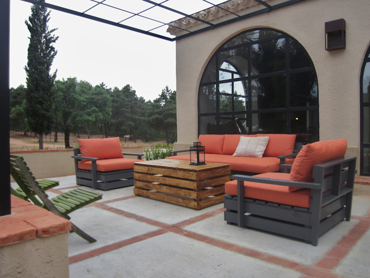 Jardines de estilo rústico de interiorismo estudio apunto Rústico