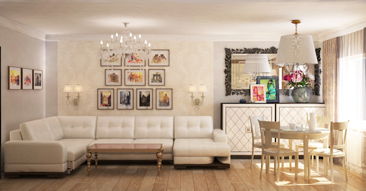 Classic style living room by Гурьянова Наталья Classic