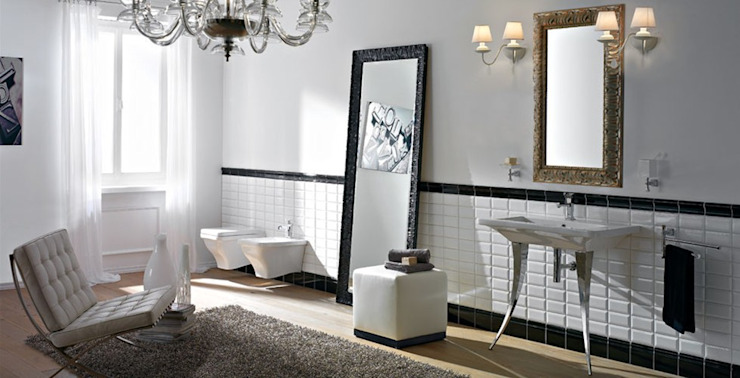 Eclectic style bathroom by Massimiliano Braconi Designer Eclectic
