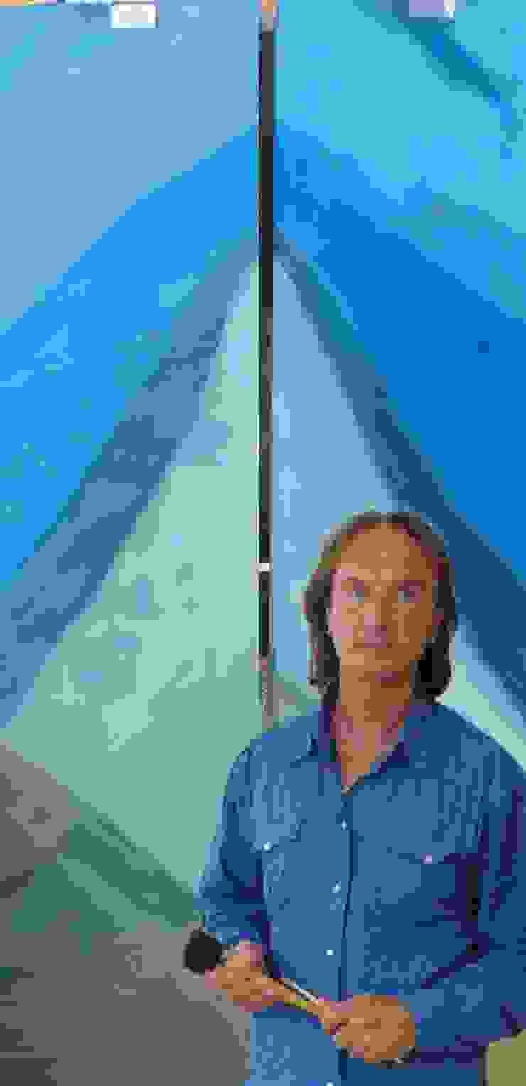 Glasmalerei von Illusionen mit Farbe Mediterran