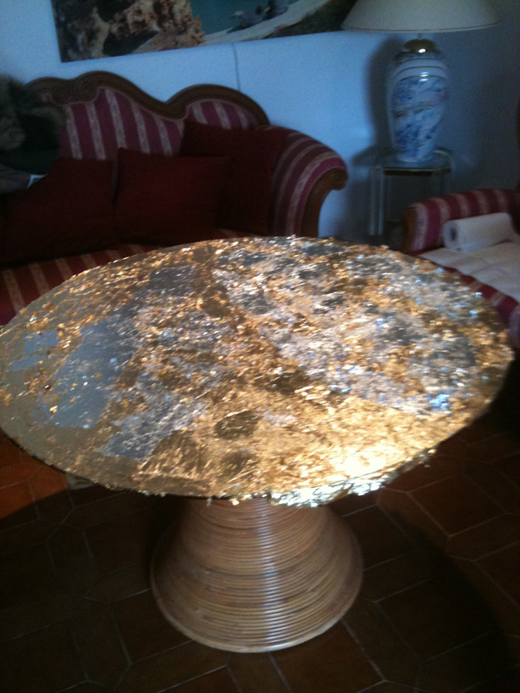 Glasmalerei mit Gold und Silber von Illusionen mit Farbe Mediterran