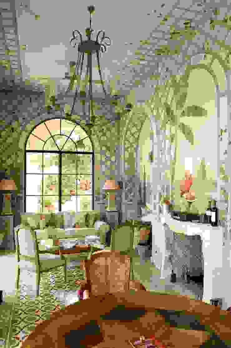 Wandmalerei im Wintergarten Illusionen mit Farbe Klassische Wohnzimmer
