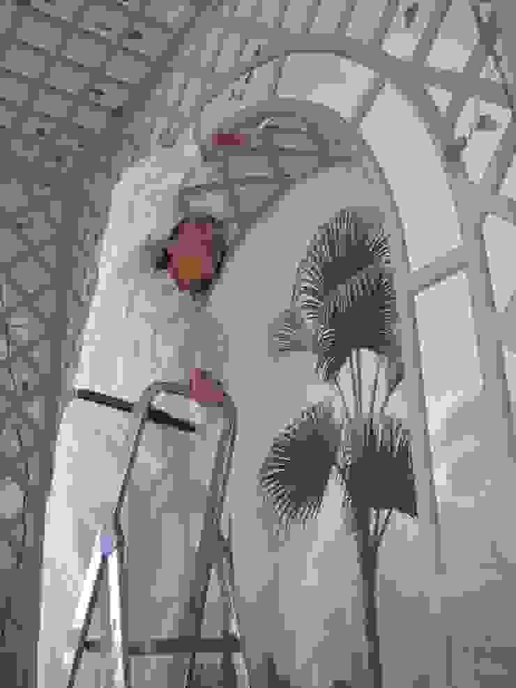 Wandmalerei im Wintergarten Illusionen mit Farbe Flur, Diele & TreppenhausAccessoires und Dekoration