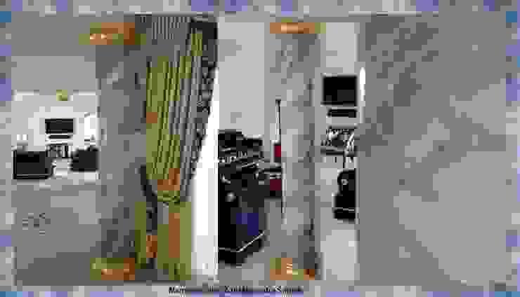Marmormalerei des kostbarsten Steines Quarzit Azul de Macauba Klassische Wohnzimmer von Illusionen mit Farbe Klassisch