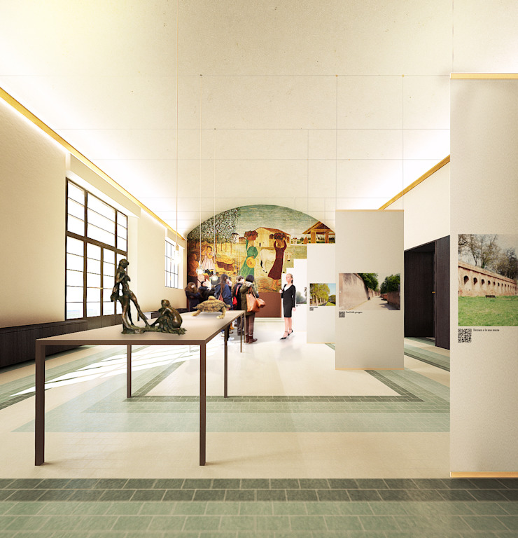 Salas multimedia de estilo moderno de QBatelier + FèRiMa Moderno