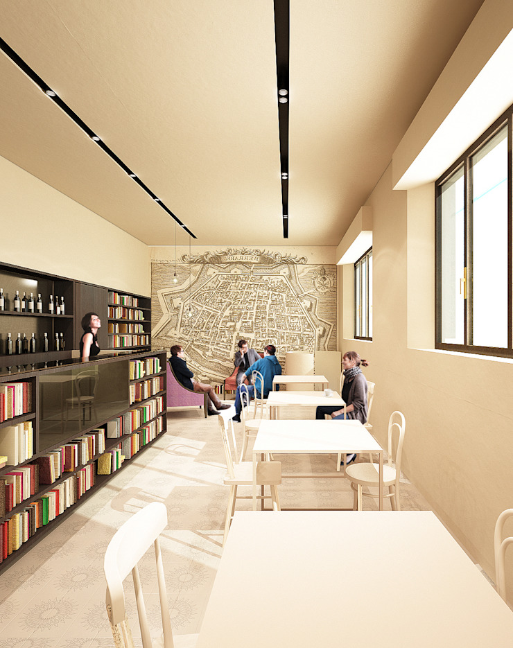 Estudios y despachos de estilo moderno de QBatelier + FèRiMa Moderno