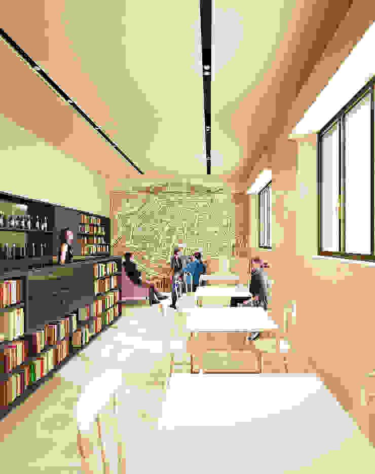 Modern study/office by QBatelier + FèRiMa Modern