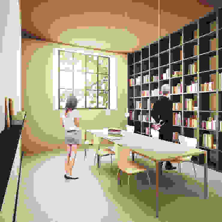 Modern style study/office by QBatelier + FèRiMa Modern