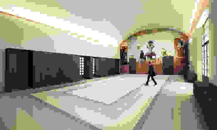Paredes y pisos de estilo moderno de QBatelier + FèRiMa Moderno