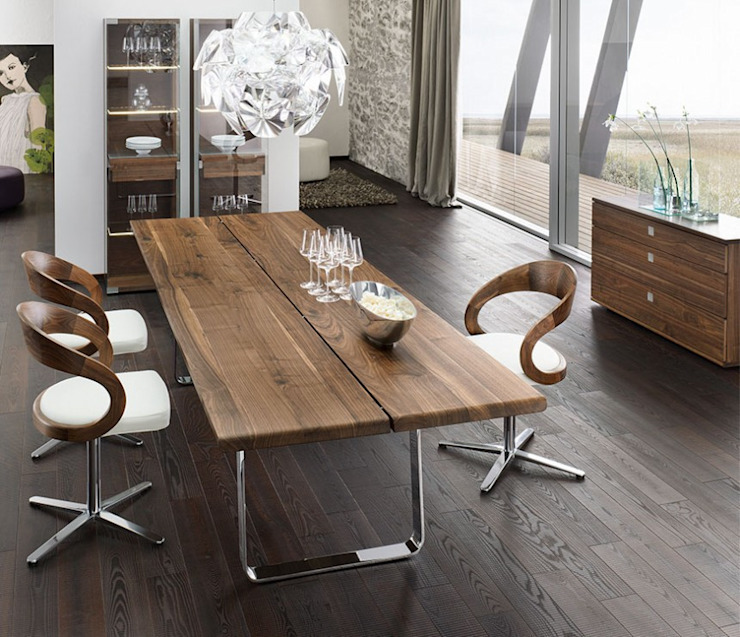 Nox Dining Table por Wharfside Furniture Moderno