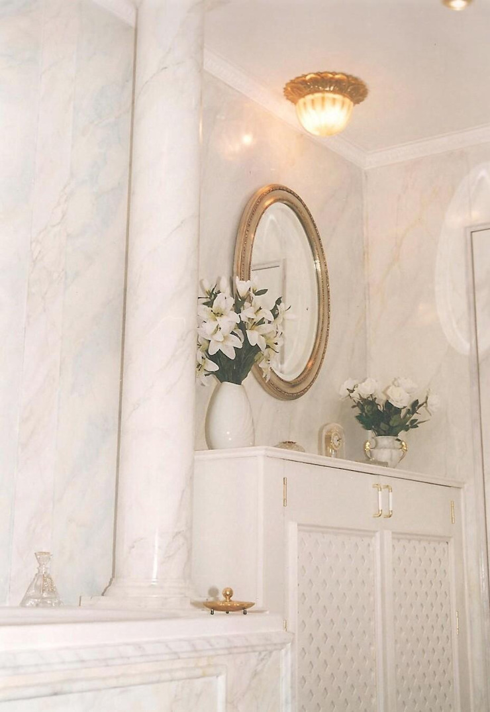 Carrara Marmor gemalt Illusionen mit Farbe Flur, Diele & TreppenhausAccessoires und Dekoration