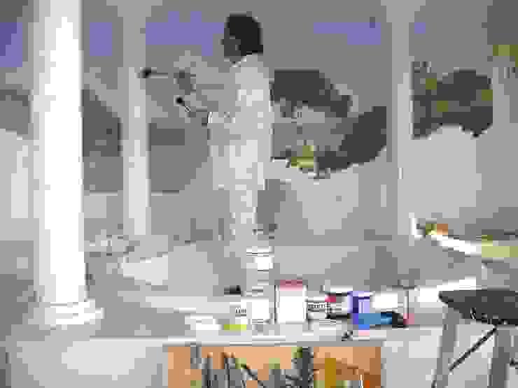 Marmormalerei in Estremoz Creme Illusionen mit Farbe Flur, Diele & TreppenhausAccessoires und Dekoration