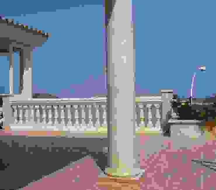 Aussensäulen in Estremoz marmoriert Illusionen mit Farbe Flur, Diele & TreppenhausAccessoires und Dekoration