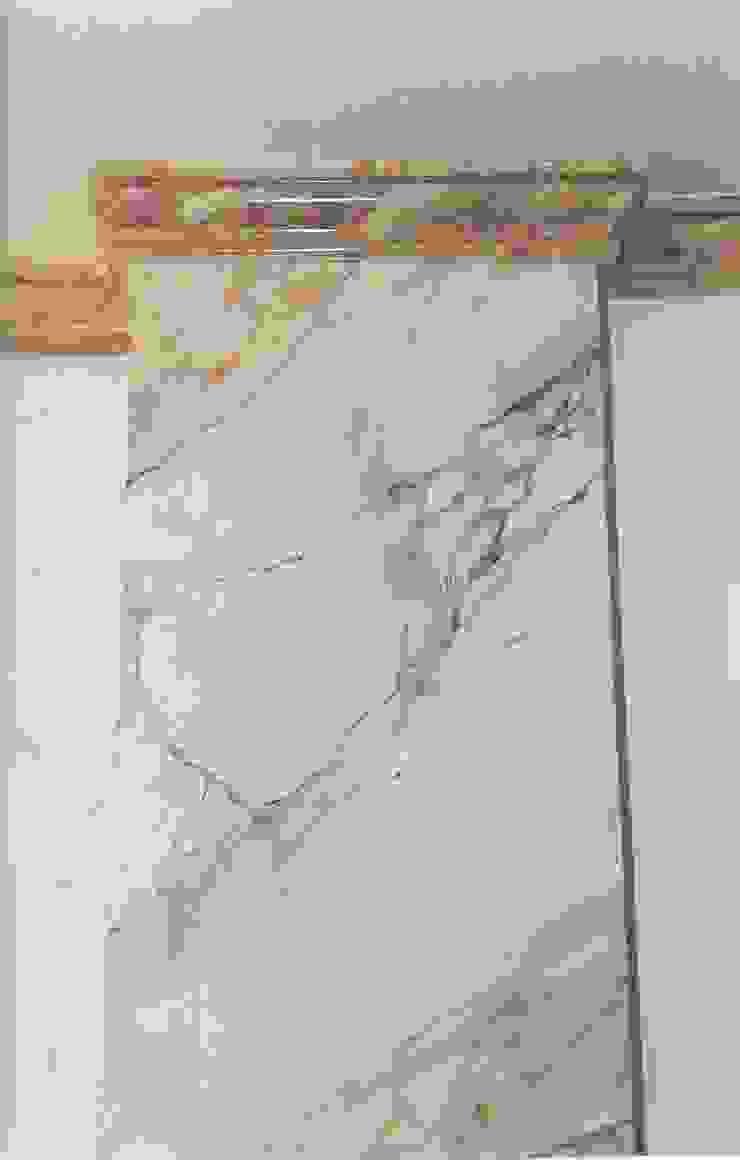 Pilaster Marmormalerei in Estremoz Rose Illusionen mit Farbe Flur, Diele & TreppenhausAccessoires und Dekoration