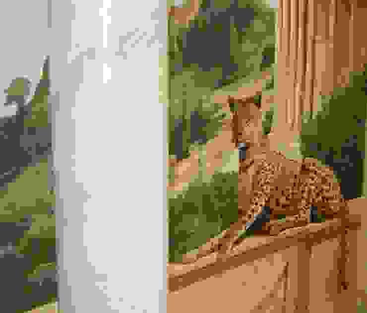 Carrara Marmor Säulen Marmormalerei Illusionen mit Farbe Flur, Diele & TreppenhausAccessoires und Dekoration