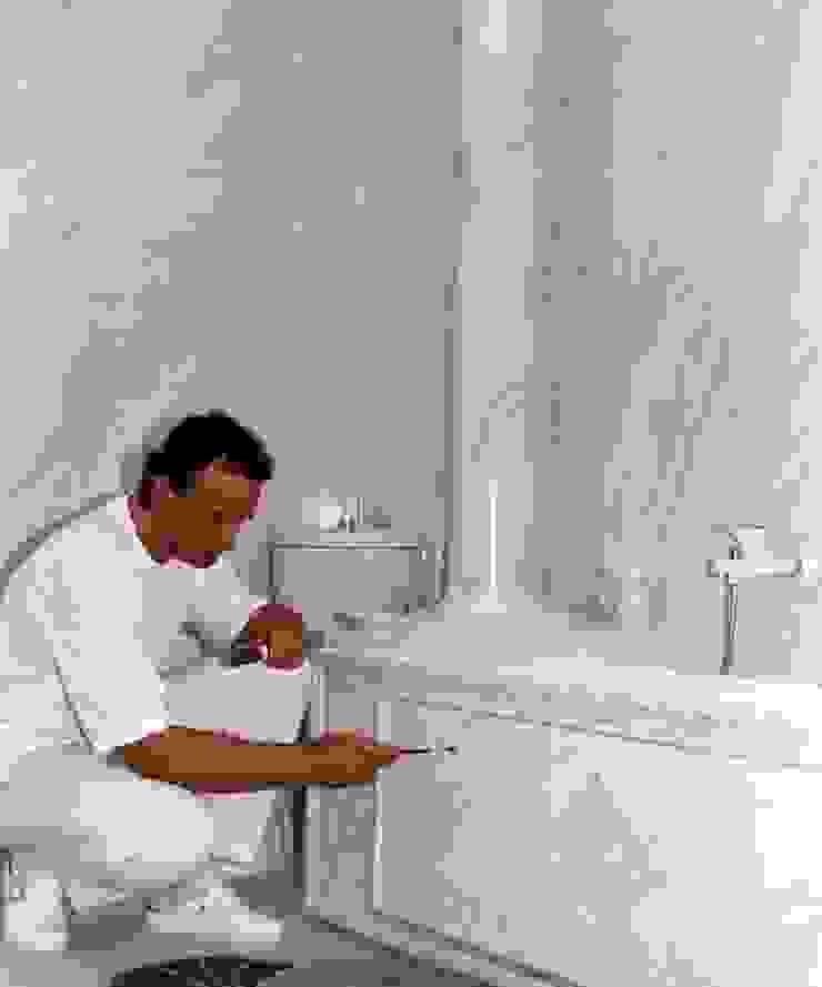 Marmormalerei von Palisandro Bluette und Carrara Marmor. .Komplettes Bad bemalt Illusionen mit Farbe Flur, Diele & TreppenhausAccessoires und Dekoration
