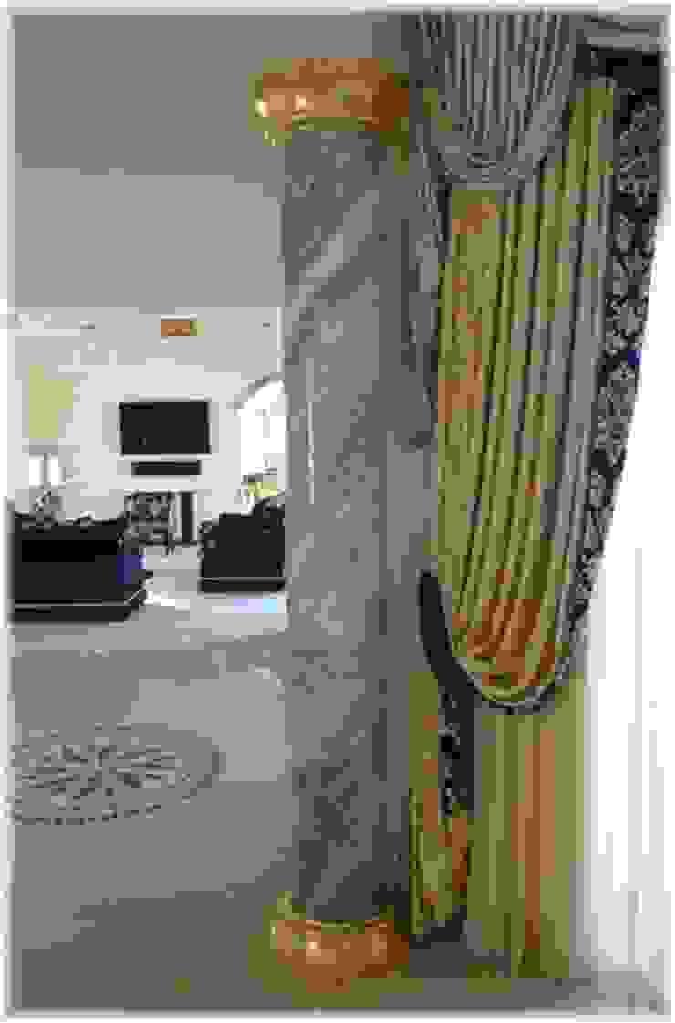 Säule in Azul Ciel marmoriert Illusionen mit Farbe Flur, Diele & TreppenhausAccessoires und Dekoration