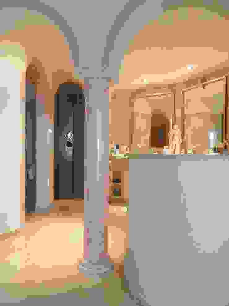 Säule Marmormalerei in Rosa Portogallo Illusionen mit Farbe Flur, Diele & TreppenhausAccessoires und Dekoration