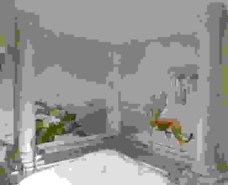 Saülen in Carrara bemalt und komplette Ablage marmoriert Illusionen mit Farbe Flur, Diele & TreppenhausAccessoires und Dekoration
