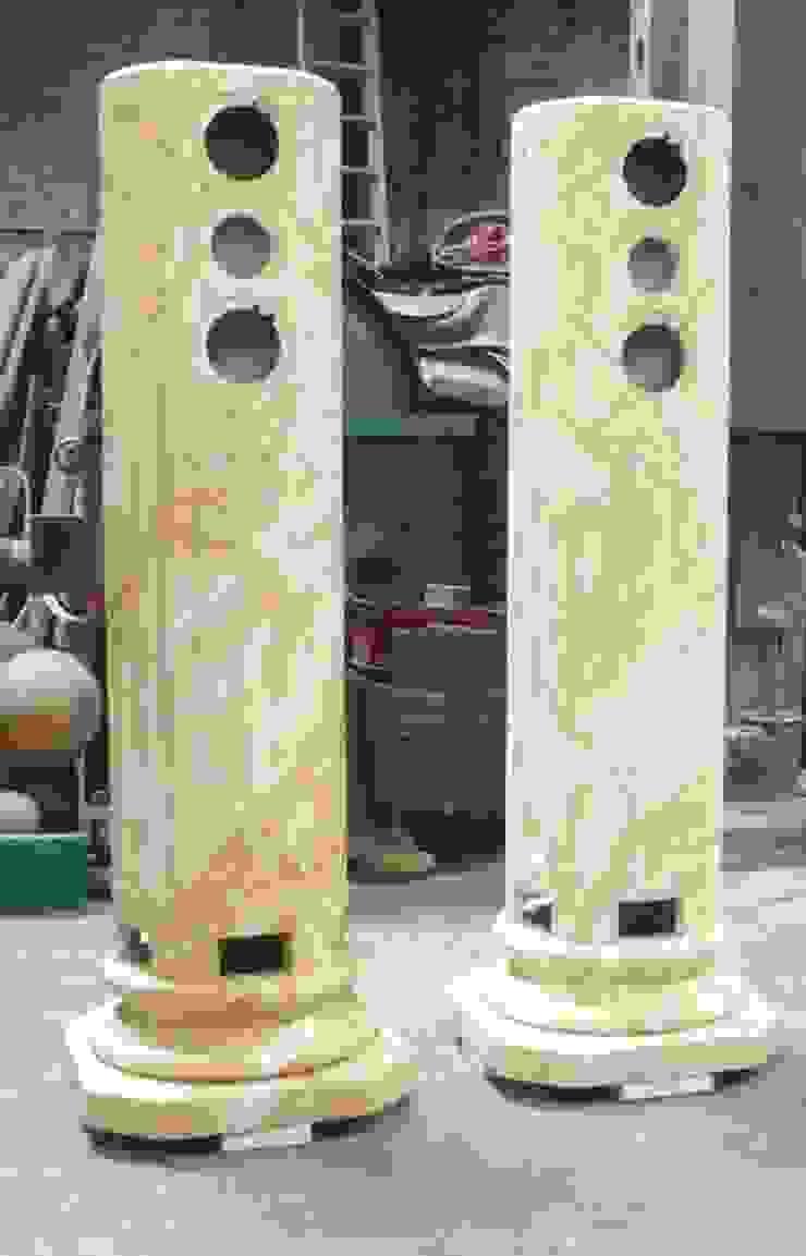 Lautsprechergehäuse in Estremoz Creme marmoriert Illusionen mit Farbe Flur, Diele & TreppenhausAccessoires und Dekoration