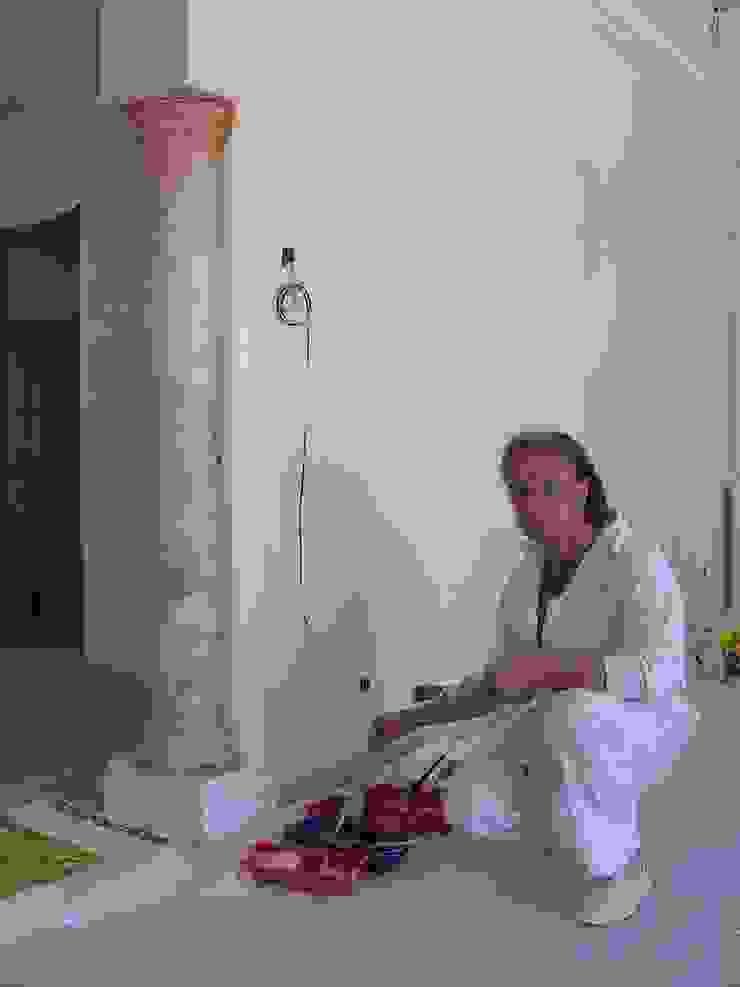 Säule in Rosa Portogallo marmoriert Illusionen mit Farbe Flur, Diele & TreppenhausAccessoires und Dekoration