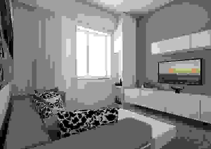 现代客厅設計點子、靈感 & 圖片 根據 elisalage 現代風