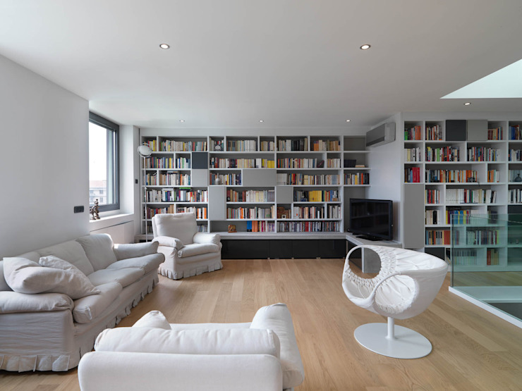 Sala Soggiorno moderno di enzoferrara architetti Moderno