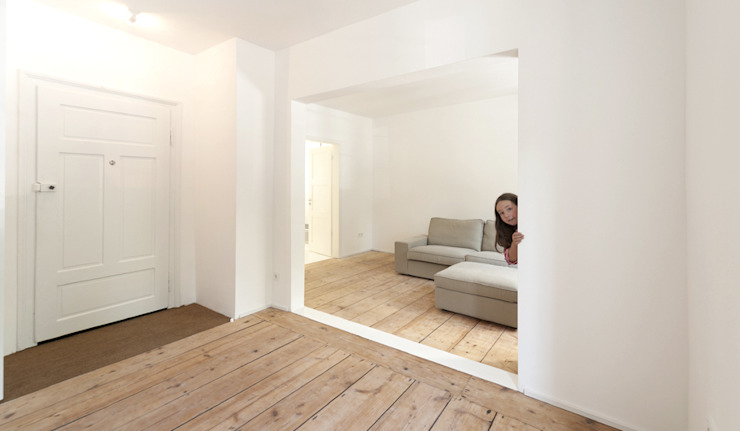 Minimalistische woonkamers van Brut Deluxe Architektur + Design Minimalistisch