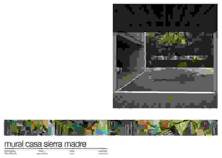 CASA SIERRA MADRE MEXICO de Martin Brown Mosaics Moderno