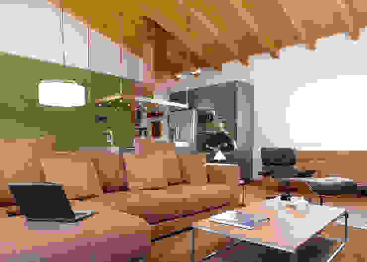 VIVIENDA ROQUETES Salones rústicos de estilo rústico de The Room Studio Rústico