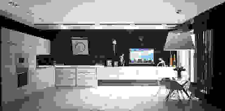 Проект интерьера трехкомнатной квартиры Кухня в стиле модерн от Гурьянова Наталья Модерн
