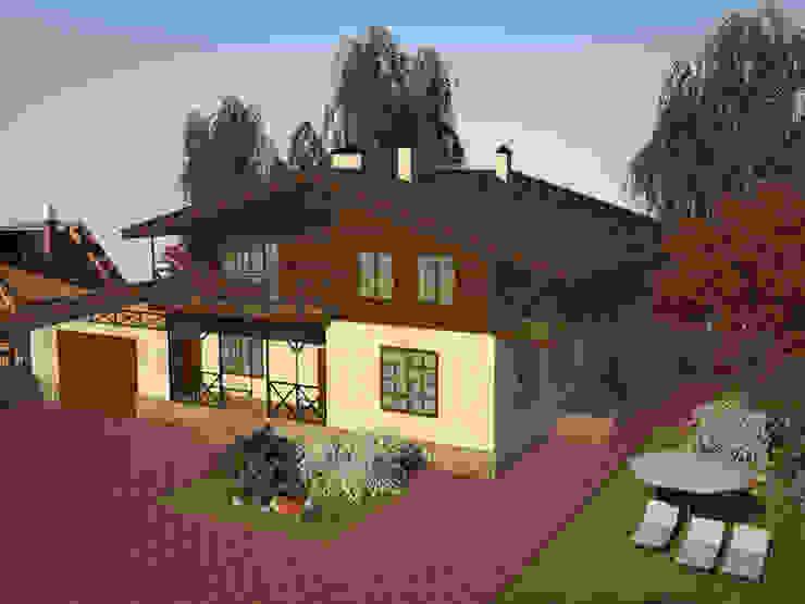 Проект индивидуального жилого дома в стиле шале Дома в средиземноморском стиле от Гурьянова Наталья Средиземноморский