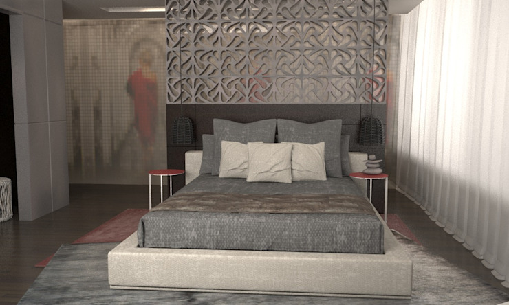 Asian style bedroom by GG&Asociados Asian