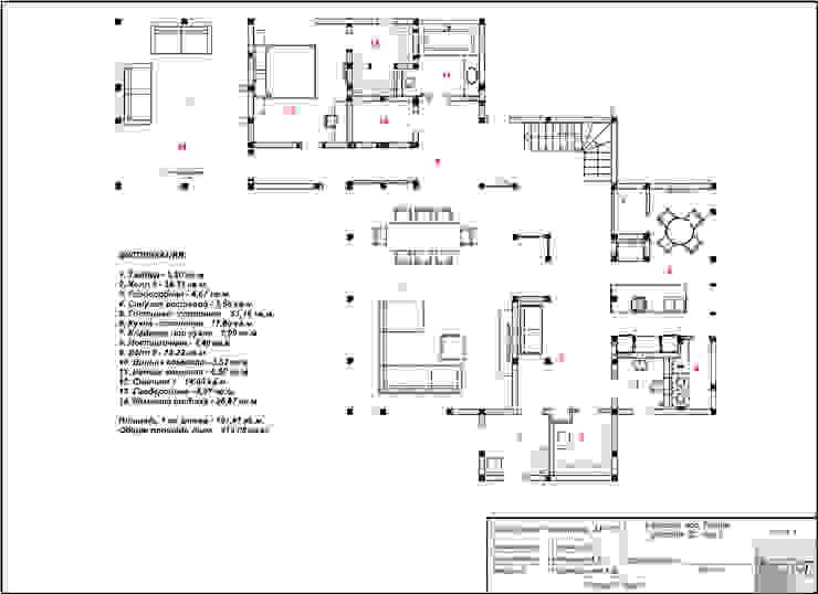 """поэтажный план 1-го этажа """"после"""" от Forma-T studio Эклектичный"""