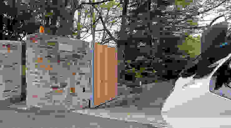Ворота Shar Project Гараж в стиле минимализм