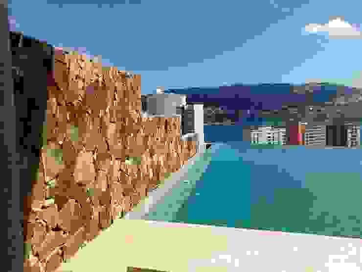Remate de Alberca ARQUELIGE Piscinas de estilo tropical