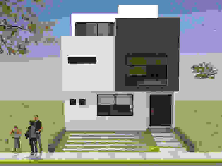 FACHADA SUR Casas modernas de Arquitectura Libre Moderno