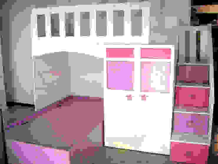 Litera de acomodo transversal de estrellitas de camas y literas infantiles kids world Moderno