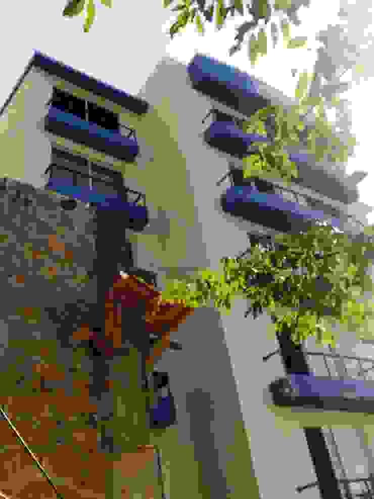 Vista de la fachada hacia la bahia ARQUELIGE Casas modernas