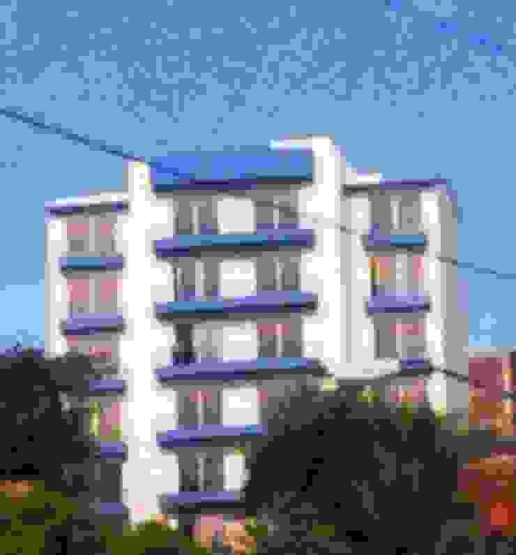 Vista del edificio terminado desde la Avenida Ruiz Cortines ARQUELIGE Casas modernas