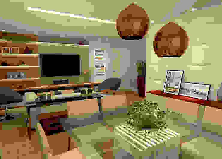 Sala de Estar e Jantar – RJ Salas de jantar modernas por Konverto Interiores + Arquitetura Moderno