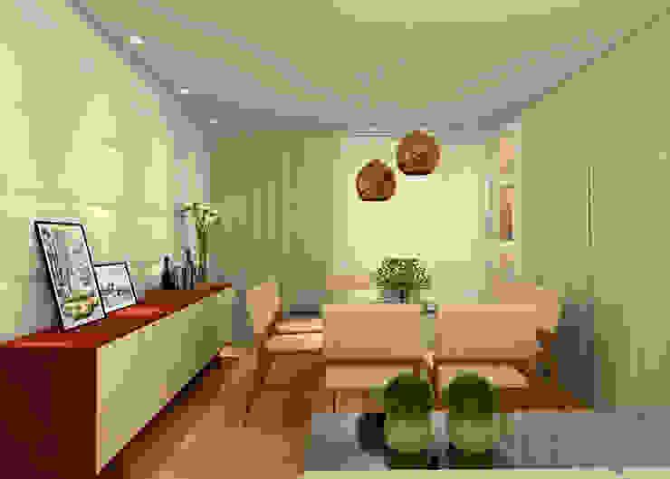 Comedores de estilo moderno de Konverto Interiores + Arquitetura Moderno